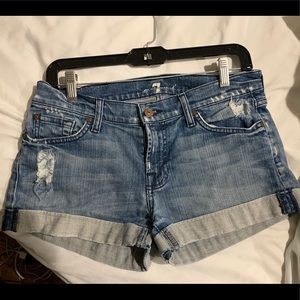 7 for all mankind jean shorts size 28
